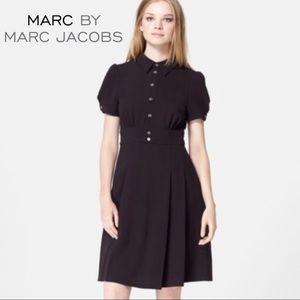 Marc by Marc Jacobs Black Tea Dress Shirtdress 6